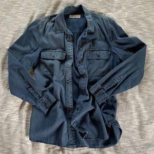 Madewell Tomboy Workshirt Blue Style 47515